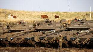 Израильские военные на Голанских высотах, 10 мая 2018.