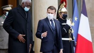 Emmanuel Macron et Bah N'Daw