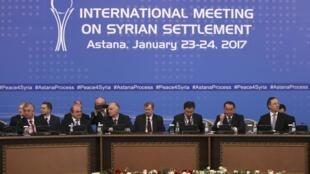 Photo de la première conférence d'Astana qui s'était tenue en janvier 2017.