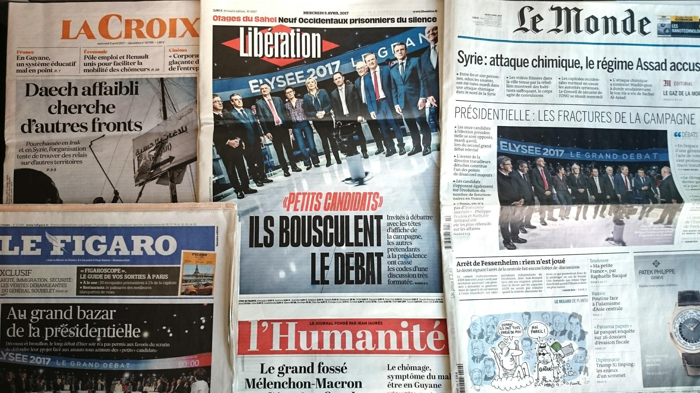 Diários franceses desta quarta-feira 5 de Abril de 2017.