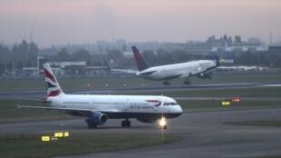 Des avions de la compagnie British Airways à l'aéroport d'Heathrow, le 25 octobre 2016.