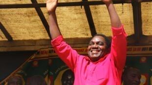 Kiongozi wa upinzani nchini Zambia Hakainde Hichilema baada ya kuachiliwa huru Agosti 16 2017 jijini Lusaka