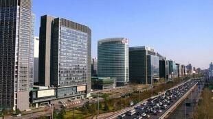 Rue de la Finance, le centre économique de Pékin.