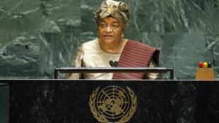Ellen Johnson-Sirleaf, présidente du Liberia.