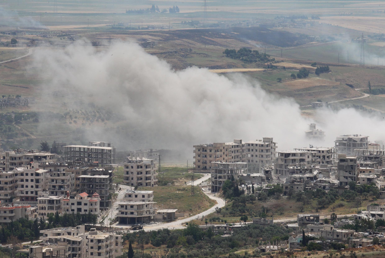Một điểm chiến sự giữa quân chính phủ và phe nổi dậy Syria trong tỉnh Idlib ngày 22/5/2015.