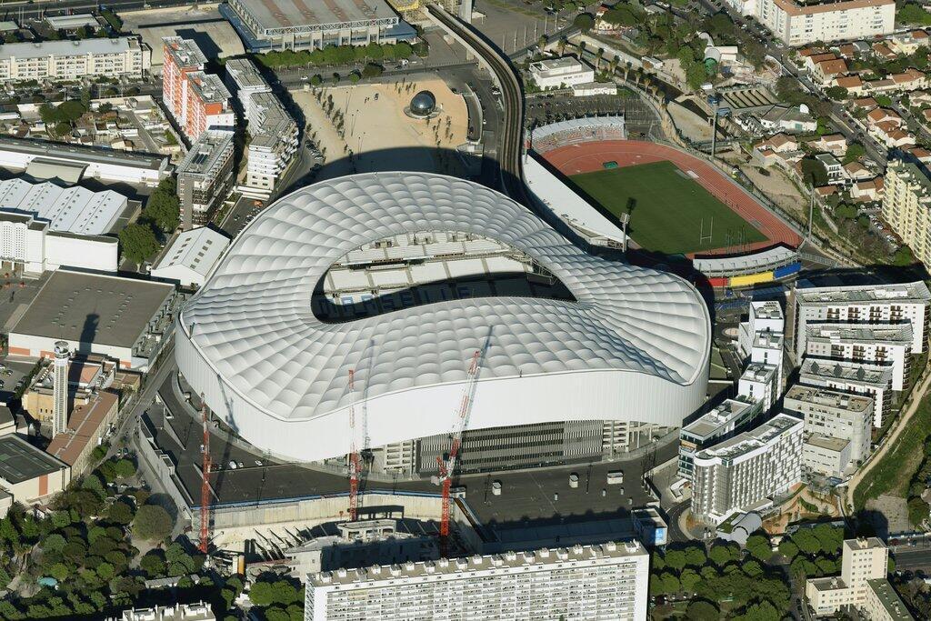 The 'Stade Vélodrome', where the l'Olympique de Marseille (OM) football team host their home games.