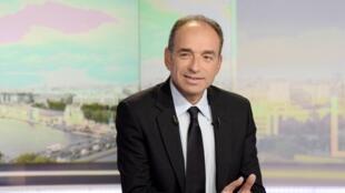 Le président démissionnaire de l'UMP, Jean-François Copé, sur TF1, le mardi soir 27 mai 2014.