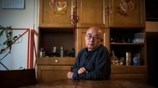 Nhà văn, nhà thơ Liêu Diệc Vũ (Liao Yiwu) tại Paris ngày 02/04/2019.
