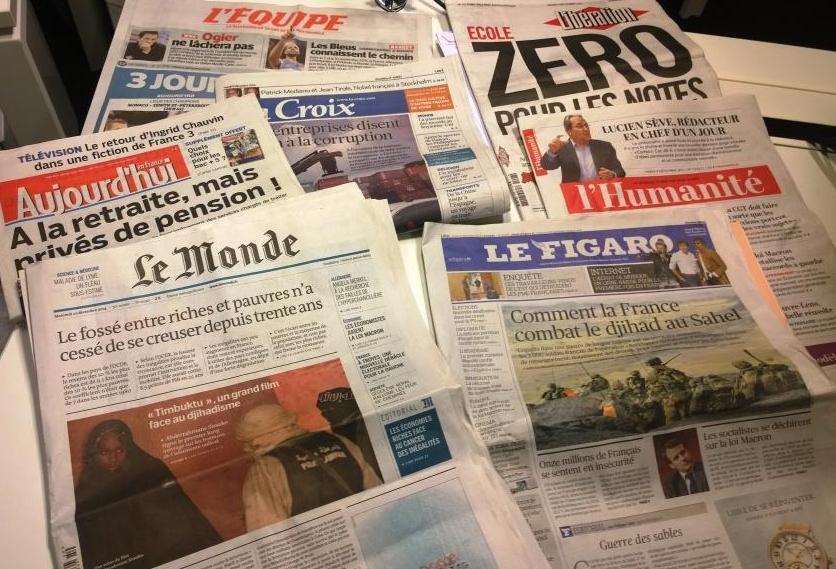 Diários franceses 09/12/2014