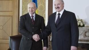 Встреча Александра Лукашенко и Александра Турчинова в резиденции Лясковичи 29/03/2014