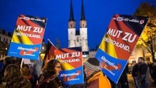 Simaptizantes do partido alemão de extrema-direita