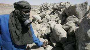 Employé d'une mine d'uranium au Niger.