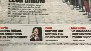 Capas dos jornais franceses de 30/09/19