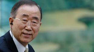 Ban Ki-moon au Grand Palais du Peuple à Beijing, le 15 mai 2018.