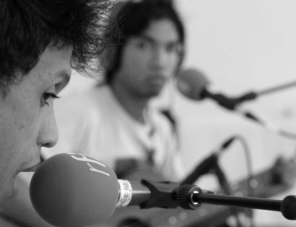 Eddy et Poun des Dizzy Brains au studio RFI-Sakifo.