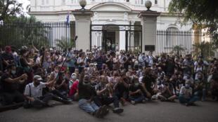 Cuba Manifestation Artistes Dissidents AP20333179698321