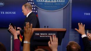 Sean Spicer, porta-voz da Casa Branca que pediu demissão