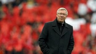 Manchester United manager Alex Ferguson at Old Trafford stadium in Manchester, 12 May, 2013