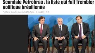 Reprodução de matéria publicada no jornal Libération desta quinta-feira (16).