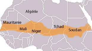 Carte du Sahel.