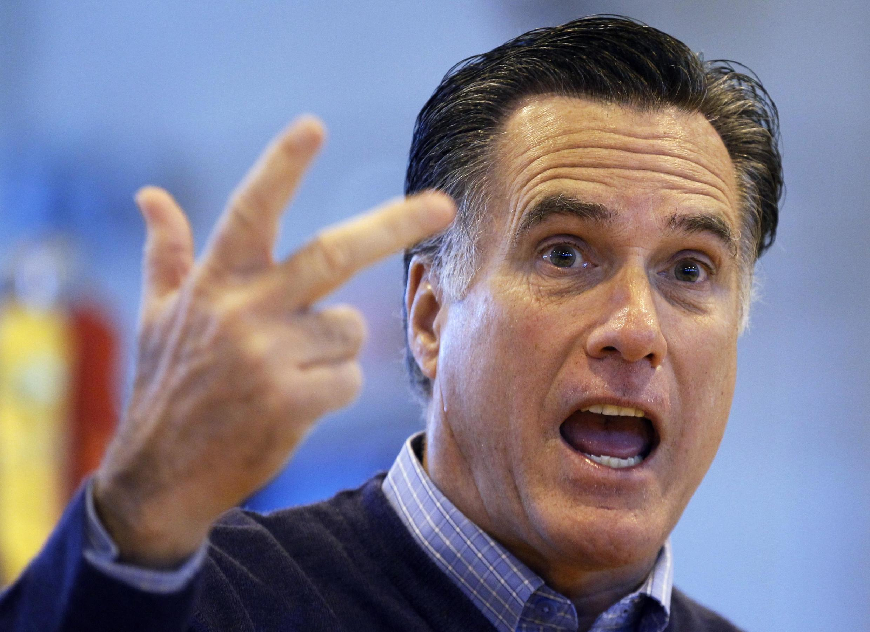 Ứng viên tổng thống đảng Cộng Hòa Mitt Romney phát biểu tại Sanford, Maine, Hoa Kỳ, 11/02/2012