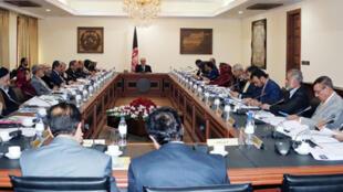 عبدالله عبدالله رییس اجرایی حکومت وحدت ملی در نشست روز دوشنبه ۲۹ قوس- آذرماه/ ۱۹ دسامبر شورای وزیران در کابل.