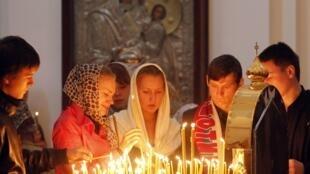 Homenagem as vítimas do desastre aéreo na Rússia.