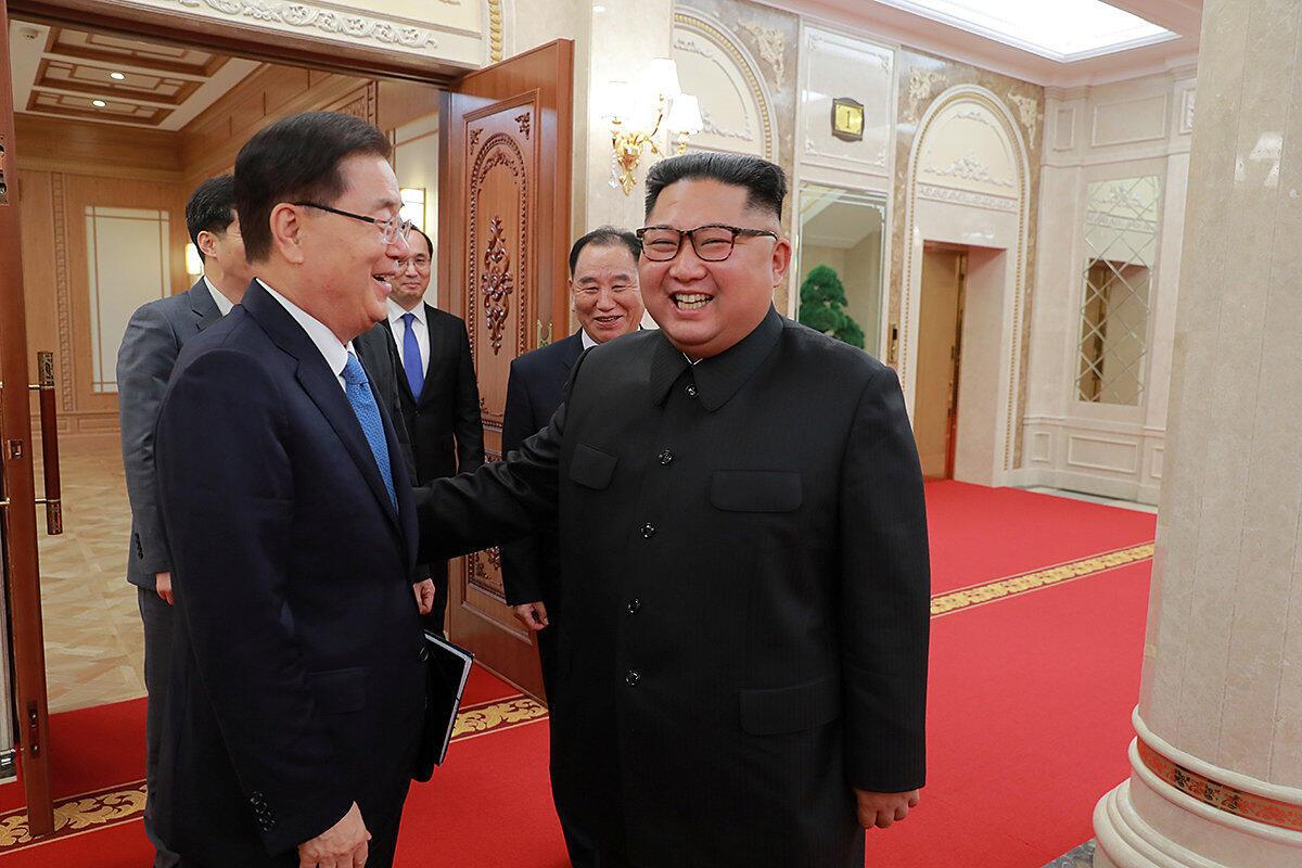 金正恩5日會見韓國總統特使鄭義榮