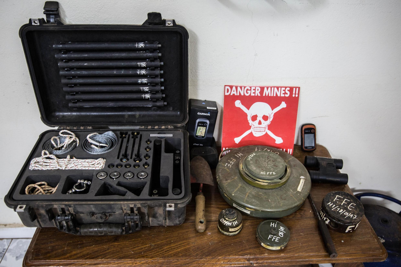 Des centaines de mines ont été découvertes en Casamance. En métal, en plastique… leur constitution et leur origine varie mais ne permet pas de déterminer qui du MFDC ou de l'armée l'a posée.
