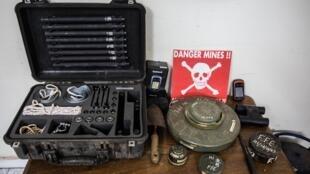 Des centaines de mines ont été découvertes par Handicap International en Casamance. En métal, en plastique… leur constitution et leur origine varie mais ne permet pas de déterminer qui du MFDC ou de l'armée l'a posée.