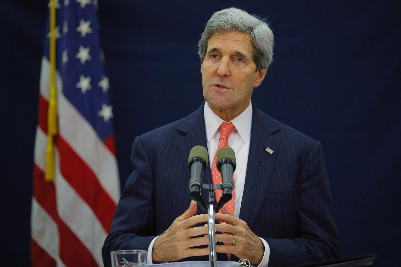 Le secrétaire d'Etat américain John Kerry, à Tel Aviv, le 13 décembre 2013.