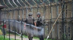 The four-kilometre-wide DMZ runs for 250 kilometres (160 miles) across the Korean peninsula