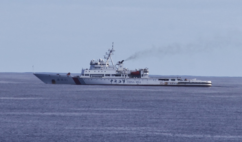 Tàu tuần duyên Trung Quốc Hải Tuần 01 tham gia tìm kiếm chiếc phi cơ Malaysia mất tích ở miền Nam Ấn Độ Dương. Ảnh chụp ngày 05/04/2014.
