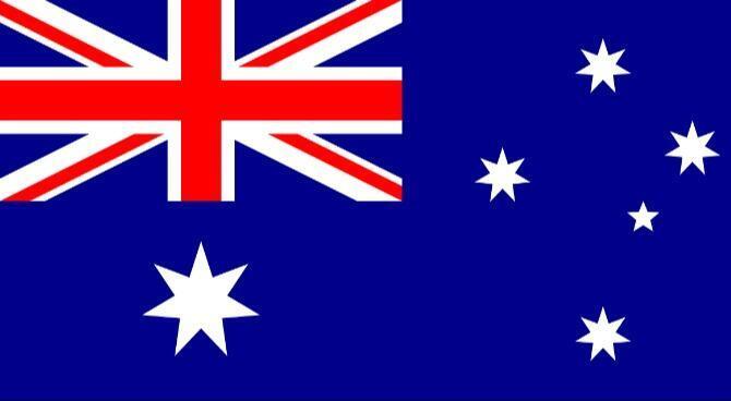 圖為澳大利亞國旗圖片