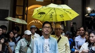 Le militant hongkongais pro-démocratie Nathan Law devant la Cour de dernière instance, le 24 octobre 2017.