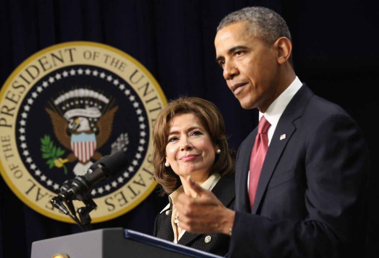 A empresária mexicana Maria Contreras-Sweet fez parte do Conselho do ex-presidente norte-americano Barack Obama em 2014.