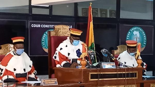 Les juges de la Cour constitutionnelle ont statué sur les résultats de la dernière présidentielle guinéenne, ce samedi 7 novembre 2020.
