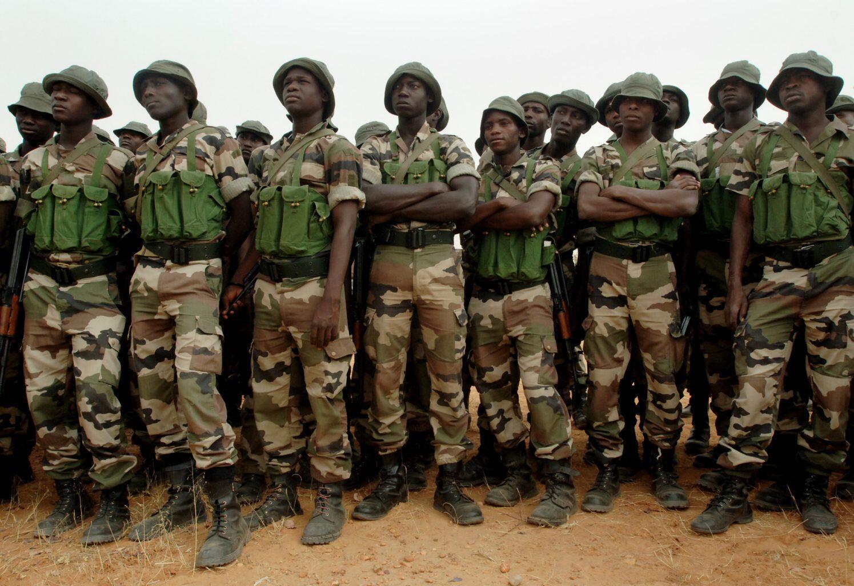 Wata tawagar Dakarun sojin Najeriya kenan da ke aikin yaki da ta'addanci a Jihar Borno mai fama da rikicin Boko Haram.