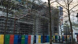 Déjà en travaux, le Centre Pompidou-Paris (ici le 29 novembre 2020), sera totalement fermé pour travaux entre septembre 2023 et 2027.  © Siegfried Forster