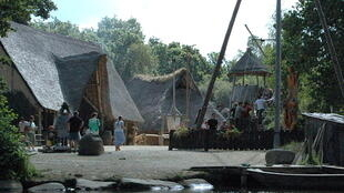 Reconstitution of a Gallic village at  Pleumeur-Bodou, Brittany.