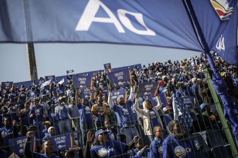 Un meeting de l'Alliance démocratique, premier parti d'opposition en Afrique du Sud, dans le stade de Dobsonville, à Soweto (photo d'illustration).