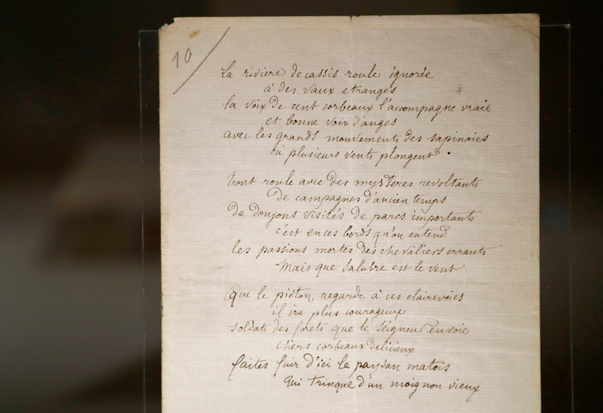 """The poem """"La riviere de Cassis"""", written by French poet Arthur Rimbaud in 1872, will be auctioned at Sotheby's Paris on February 8, 2017."""