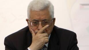 Mahmoud Abbas lors du Conseil central de l'Organisation de libération de la Palestine, le 15 décembre 2009.