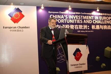 Davide Cucino, Chủ tịch Phòng Thương mại Châu Âu tại Trung Quốc.