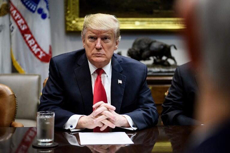 Tổng thống Mỹ Donald Trump tại Nhà Trắng, Washington DC, 25/01/2019.