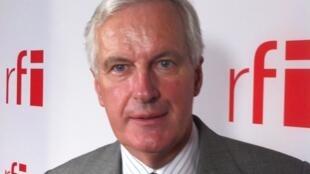 Michel Barnier, ancien ministre français, ici dans les locaux de RFI.