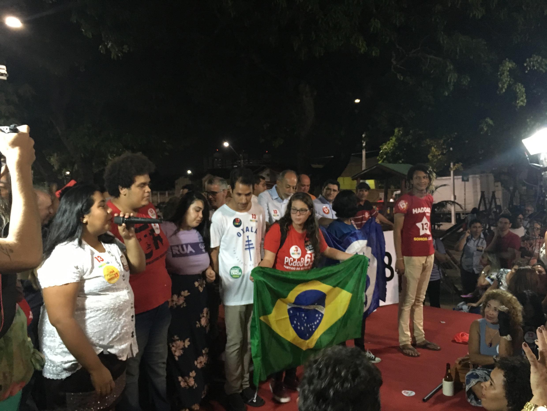 Estudantes e militantes também participaram da manifestação
