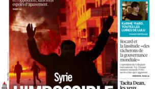 Capa do jornal francês Libération desta quarta-feira,, 22 de janeiro de 2014.
