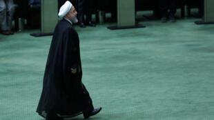 Le président iranien Hassan Rohani lors de son audition par les parlementaires à Téhéran, le 28 août 2018.