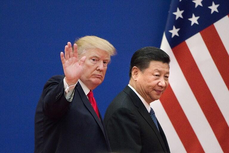 دونالد ترامپ و شی جینپینگ، رؤسای جمهوری آمریکا و چین